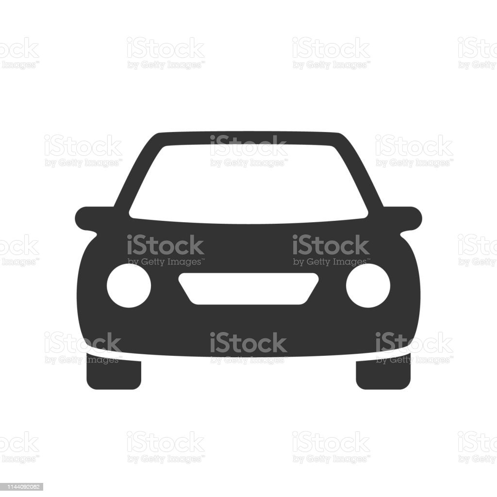 car flat icon passenger car with round headlights vector icon isolated on white background. car flat icon for web and ui design Apartment stock vector