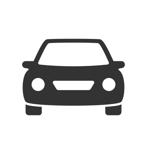 illustrazioni stock, clip art, cartoni animati e icone di tendenza di auto icona piatta - auto