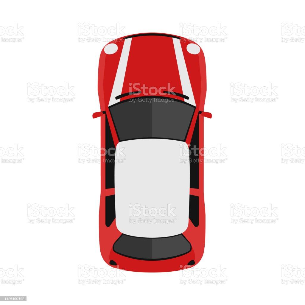 上上から見たから車影の車はかわいい漫画近代都市の民間車両です英語の