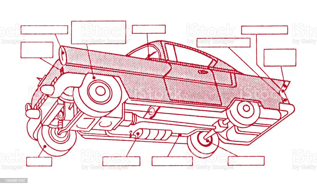 Car From Below With Labels Stock Illustration - Download ... Car Diagram With Labels on car diagram without labels, car diagram with titles, car drawing with labels, car parts with labels, car model with labels, motor car with labels, car diagram with parts labeled,