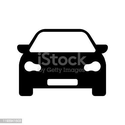 istock Car front flat design vector 1193941503