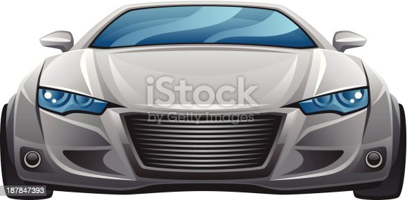 Car front on a white background