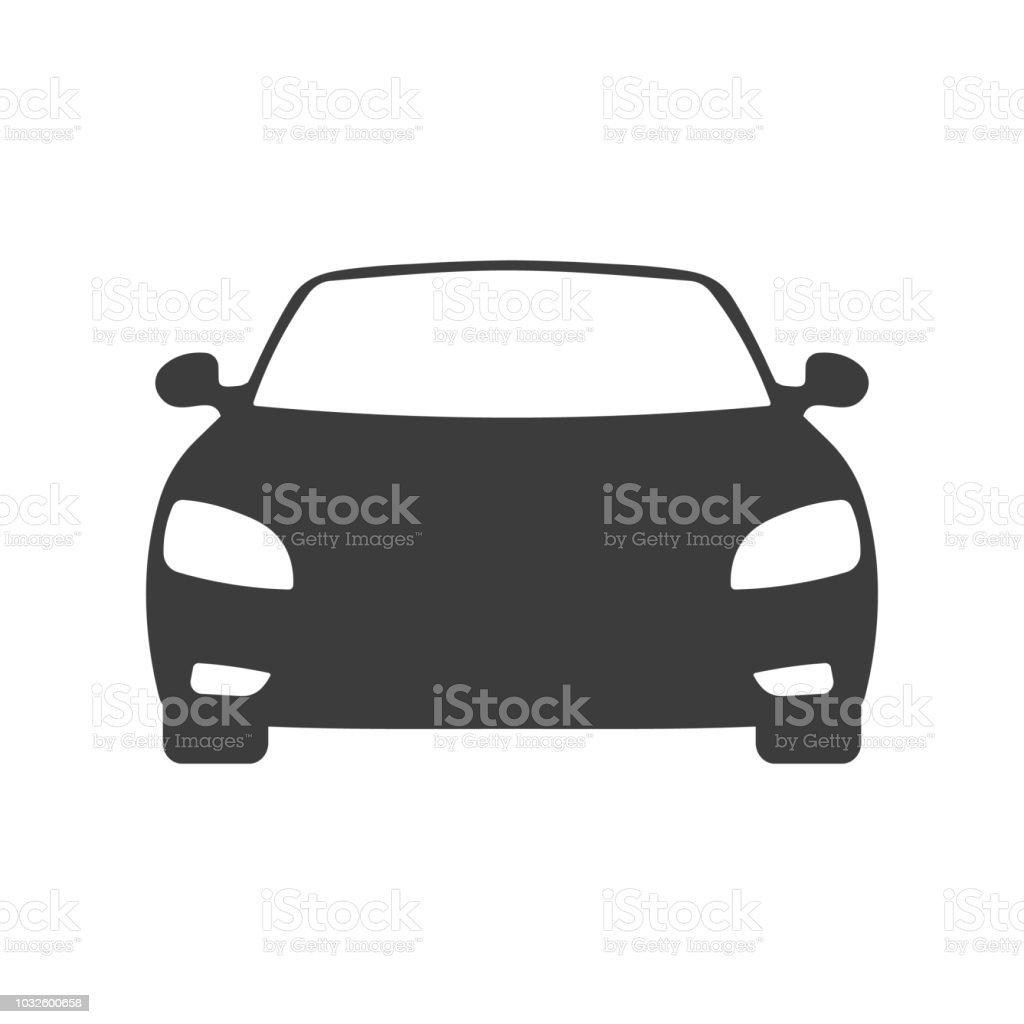 Car front view icon - illustrazione arte vettoriale