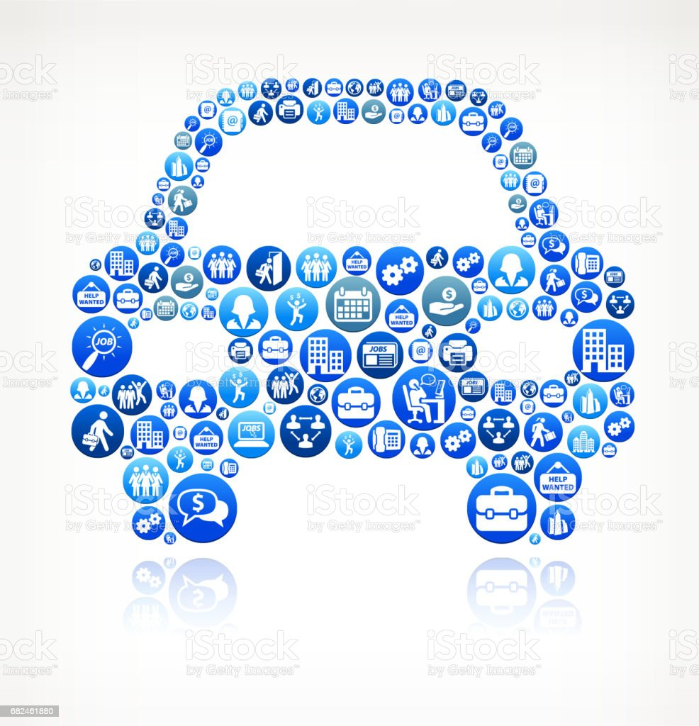 Car Front Work and Employment Blue Vector Button Pattern royalty-free car front work and employment blue vector button pattern stock vector art & more images of adult