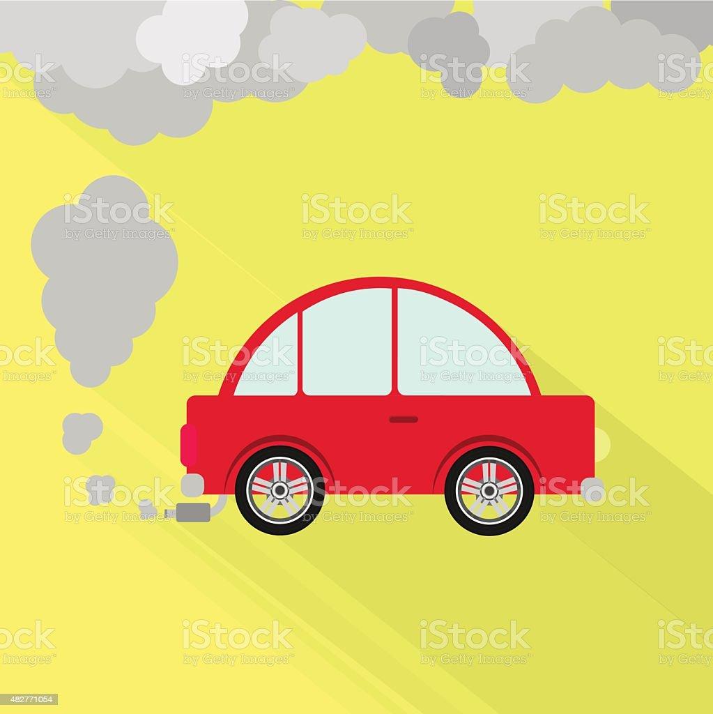Car fuming vector art illustration