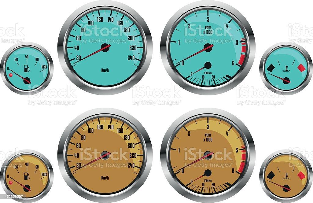 car gauges royalty-free car gauges stock vector art & more images of car