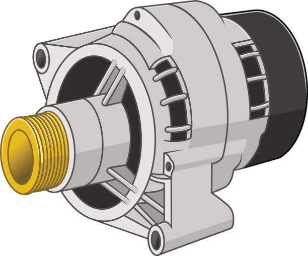 Car generator vector art illustration
