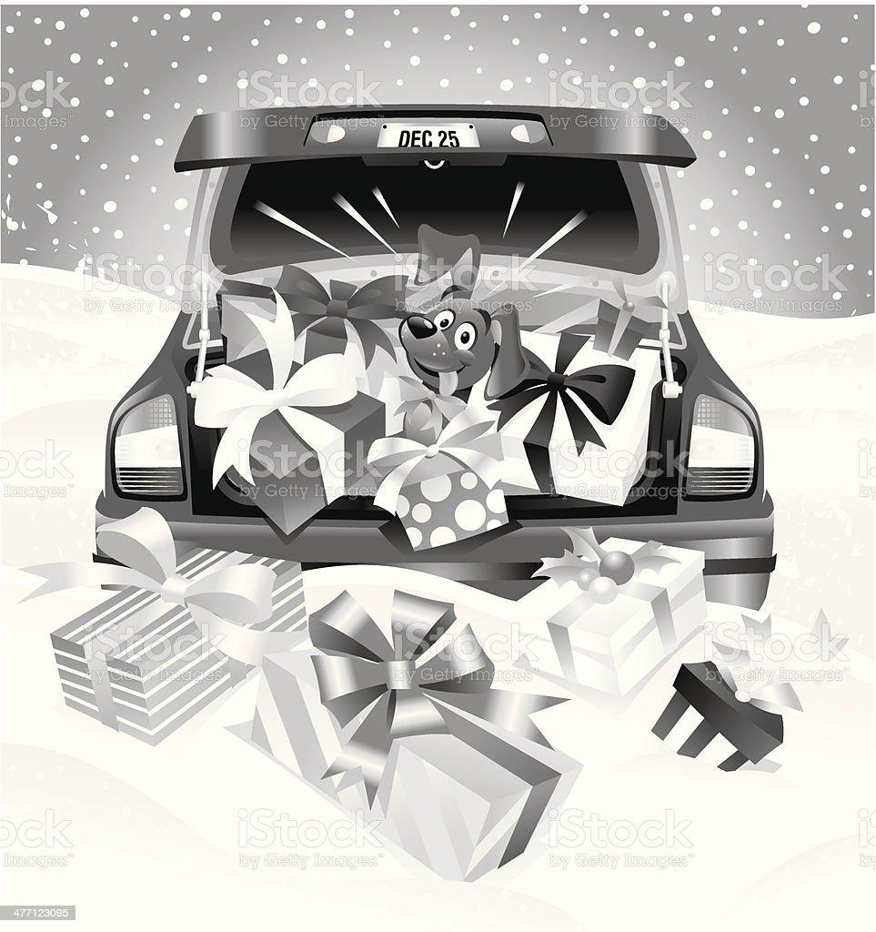 Car Gifts Dog royalty-free stock vector art