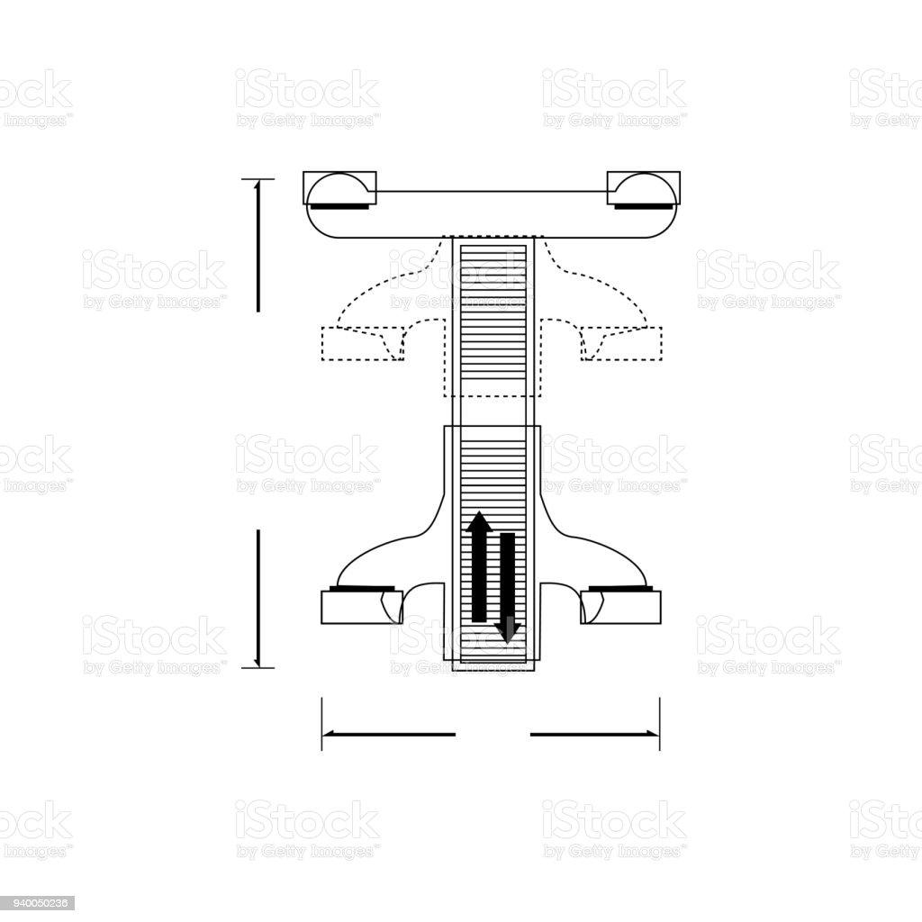 Car holder vector art illustration