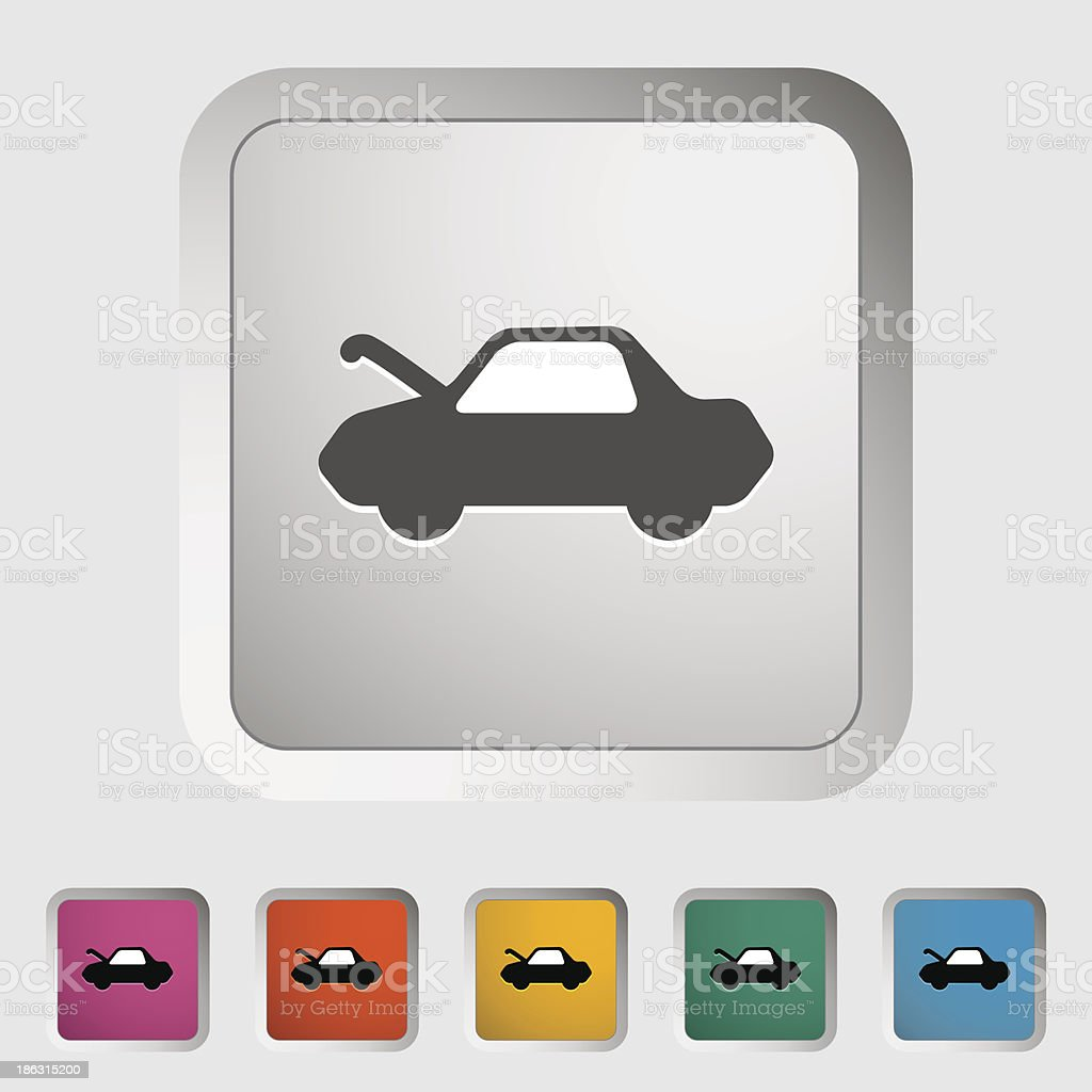 Car hood release vector art illustration
