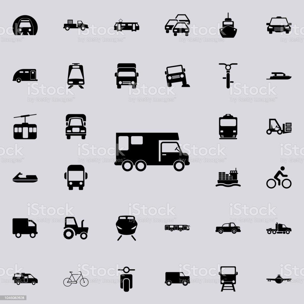 Autohaus Auf Rädernsymbol Transportsymboleuniversalset Für Web Und