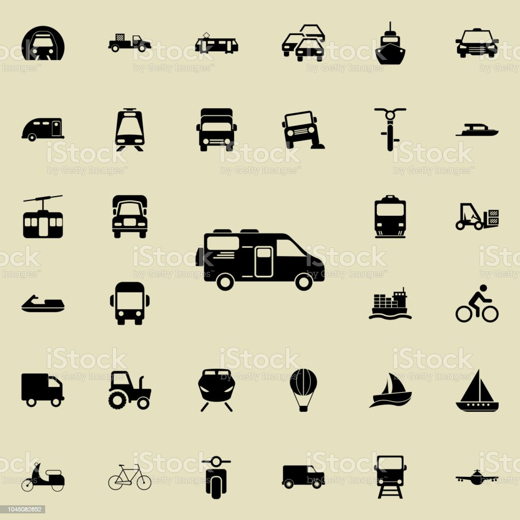 car house on wheels icon. transport icons universal set for web and...