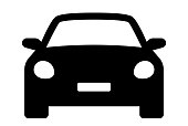 istock Car icon. Auto vehicle isolated. Transport icons. Automobile silhouette front view. Sedan car, vehicle or automobile symbol on white background - stock vector. 1273534607