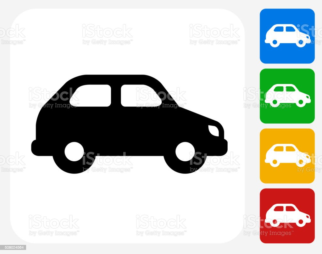 Car Icon Flat Graphic Design vector art illustration