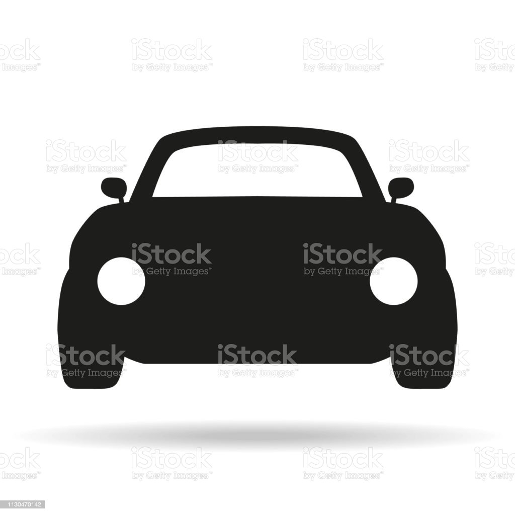Car Icon On White Background Stock Vector Art More Images Of Above