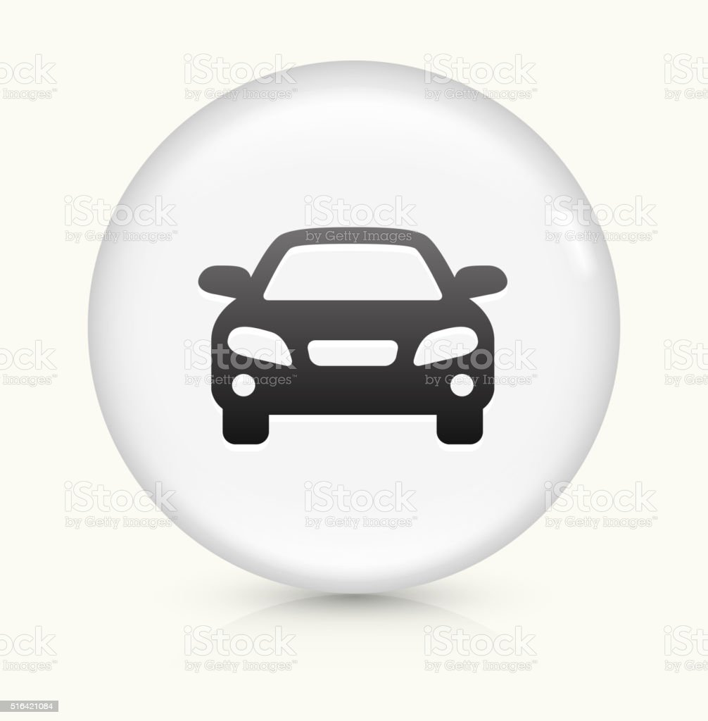 Car icon on white round vector button vector art illustration