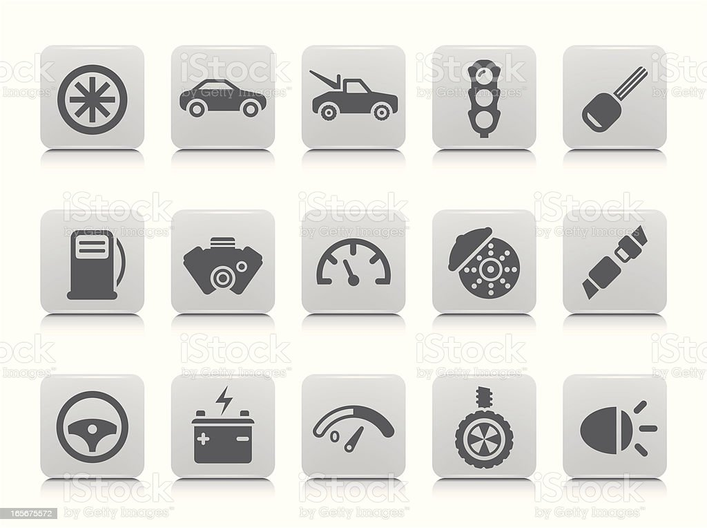 Car Icon Set royalty-free car icon set stock vector art & more images of battery