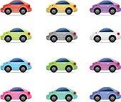 Vector Car icon set,eps 10