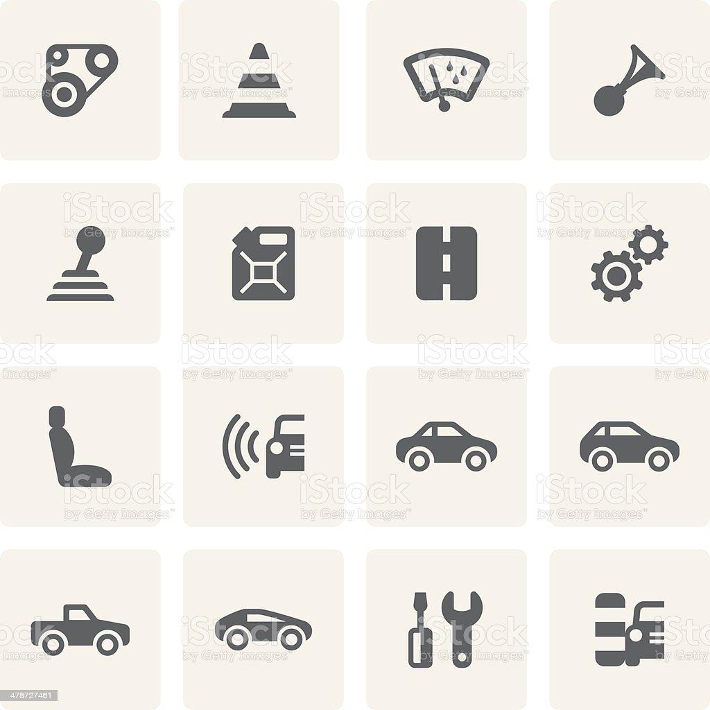 Car Icon Set (Saro Series) vector art illustration