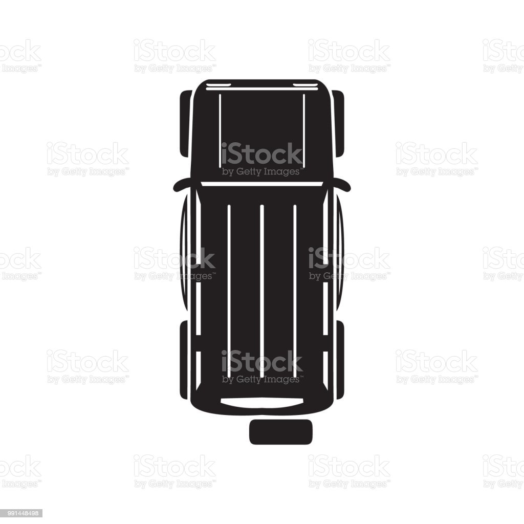Car Icon Top View Vector Stock Illustration Download Image Now