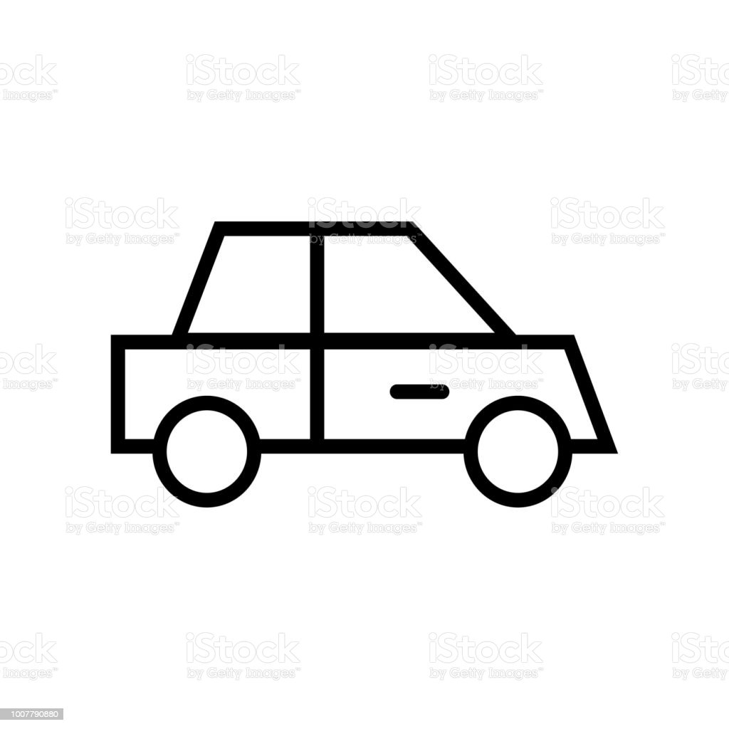 Car Icon Vector Icon Simple Element Illustration Car Symbol Design