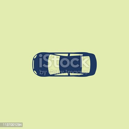 istock Car (view from above) icon 1137001294