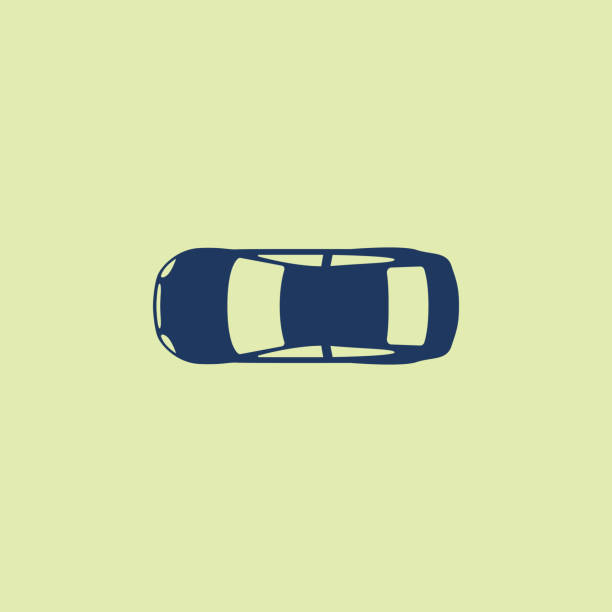 car (view from above) icon - car stock illustrations