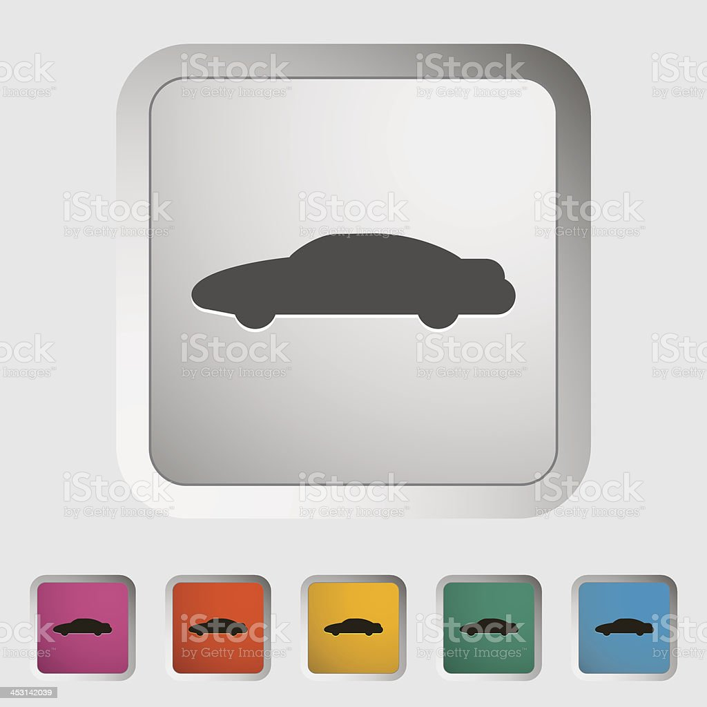 Car icon. royalty-free stock vector art
