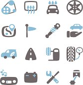 Vector File of Car icon with Reflect