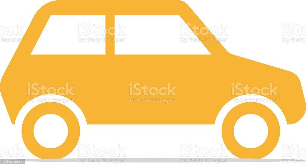 Car Icon. vector art illustration