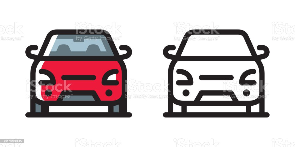 Car icon - illustrazione arte vettoriale