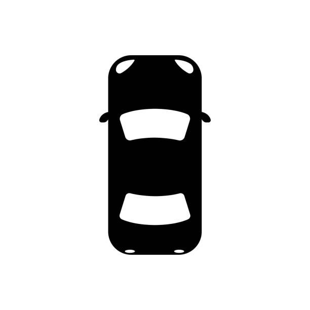 車 (ビューの上から) のアイコン - 車点のイラスト素材/クリップアート素材/マンガ素材/アイコン素材