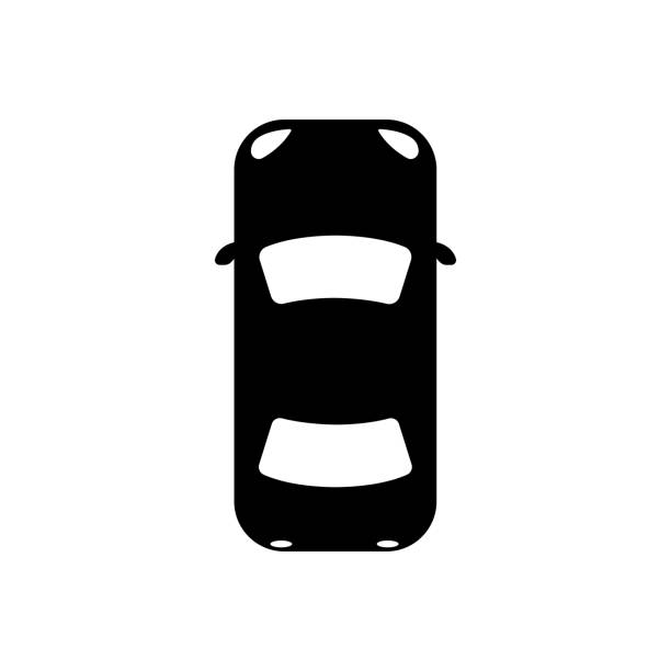 illustrazioni stock, clip art, cartoni animati e icone di tendenza di car (view from above) icon - car