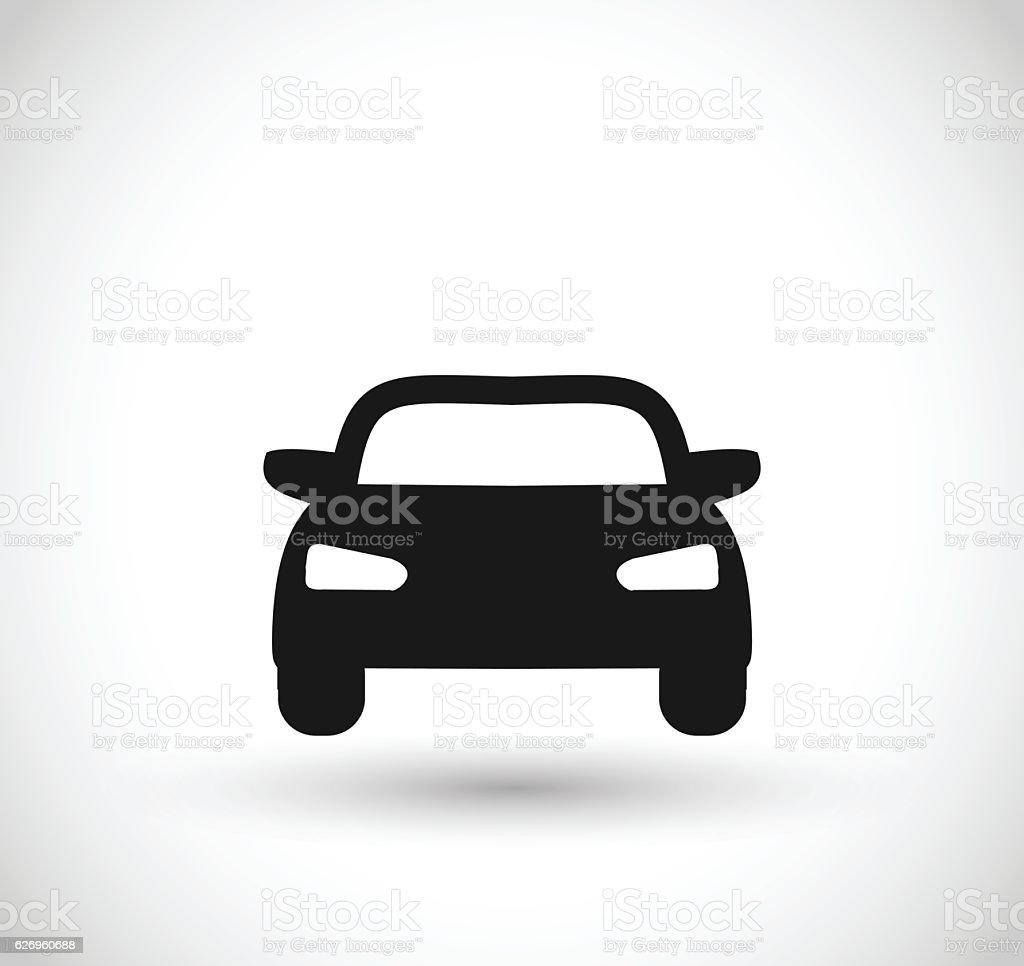 Car icon vector illustration - illustrazione arte vettoriale
