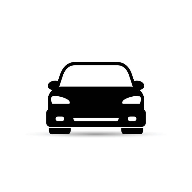 Car icon. Vector isolated simple illustration. Car icon. Vector isolated simple illustration. Front view. front view stock illustrations