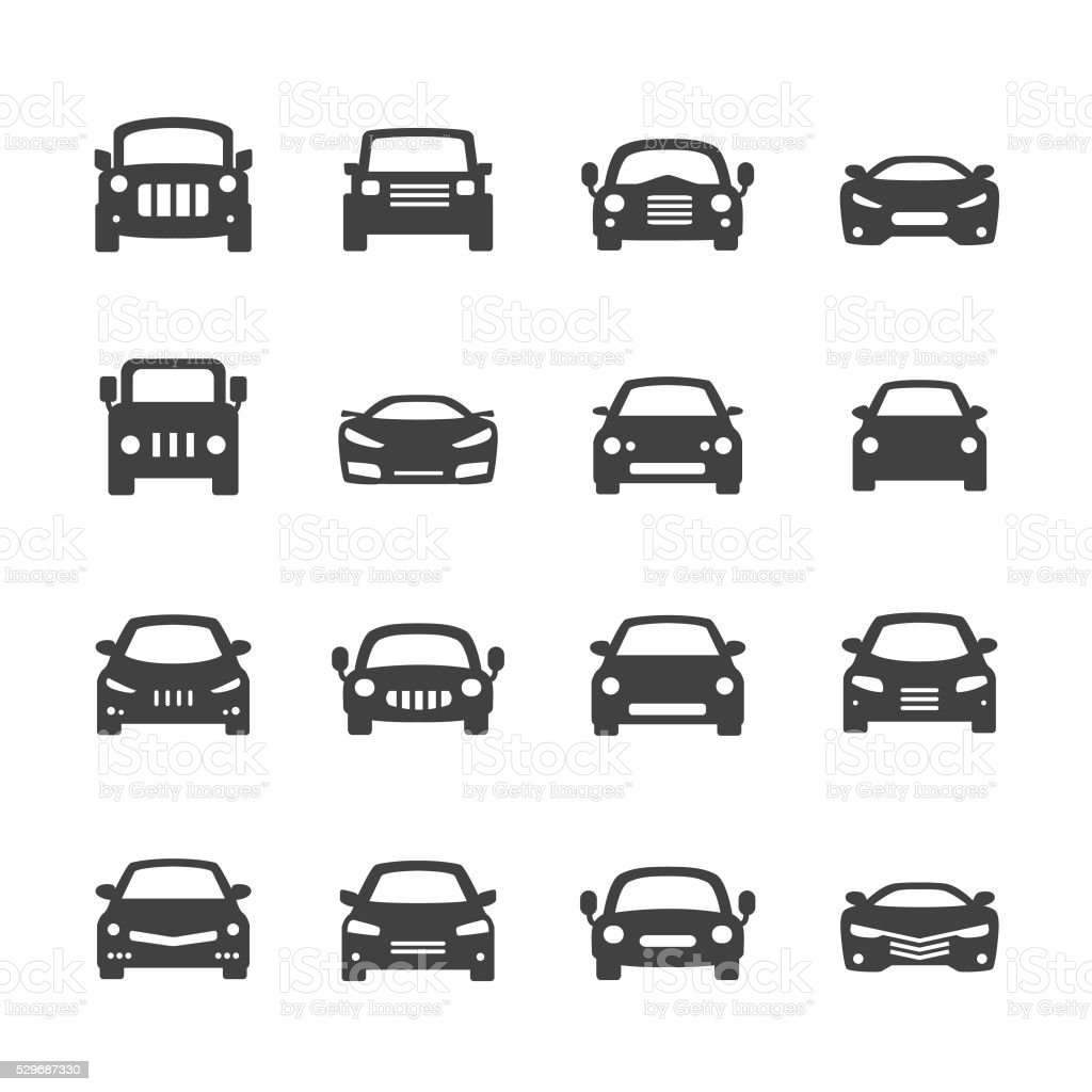 Acme serie di icone-auto - illustrazione arte vettoriale
