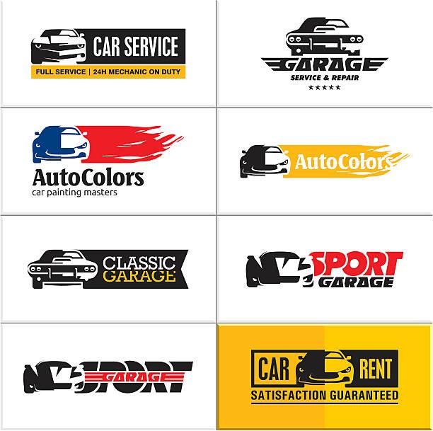 car icons, car service vector art illustration