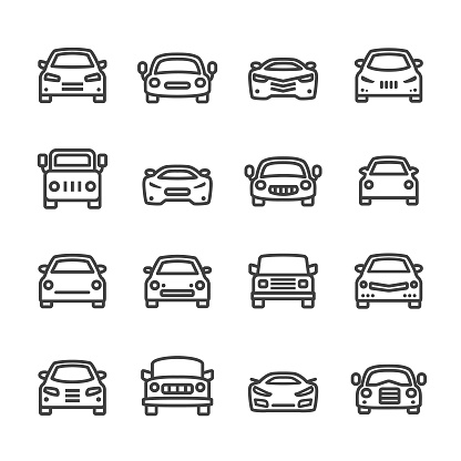Car Icons Line Series Stock Illustration - Download Image Now