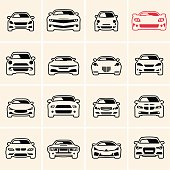 car icons outline