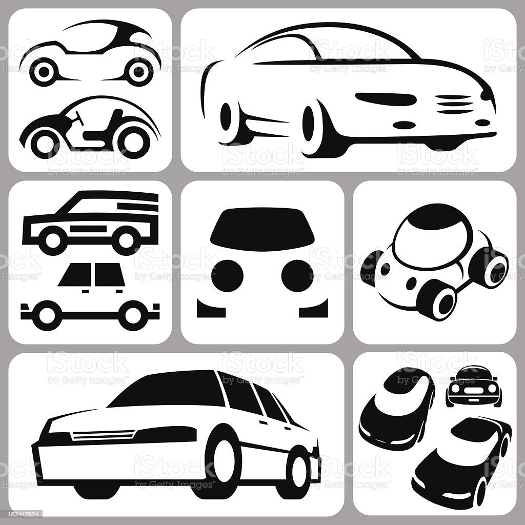 car icons set royalty-free stock vector art