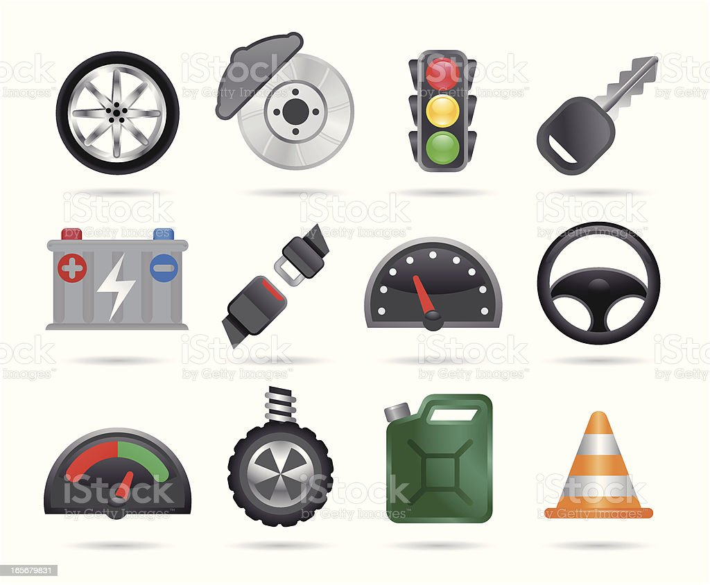 Car Icons royalty-free stock vector art