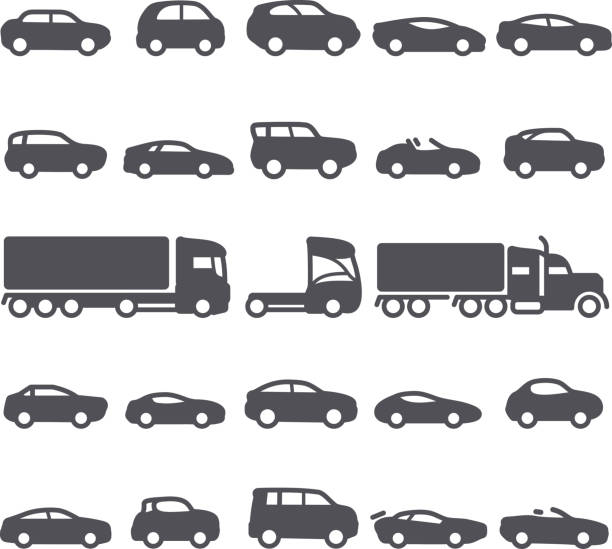 Royalty Free Compact Car Clip Art, Vector Images