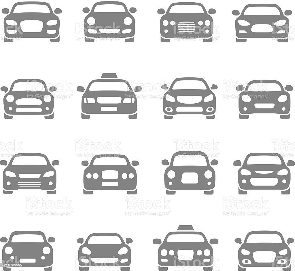 Iconos de coche - ilustración de arte vectorial