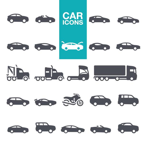 car icons - car stock illustrations