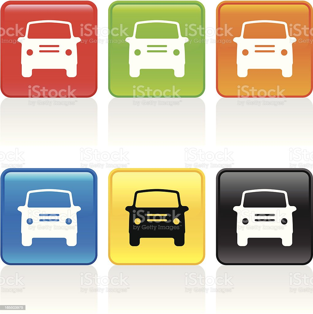 Car II Icon - Front View royalty-free car ii icon front view stock vector art & more images of black color