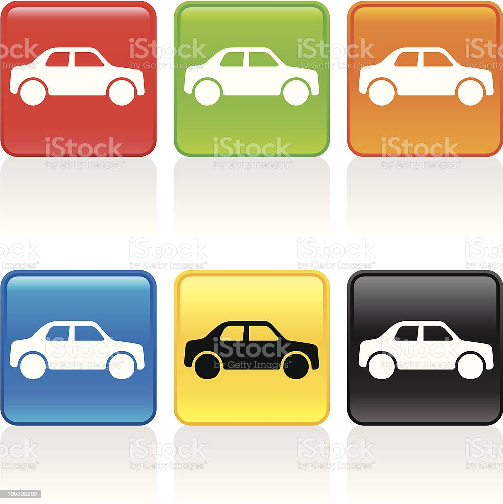 Car II Icon royalty-free stock vector art