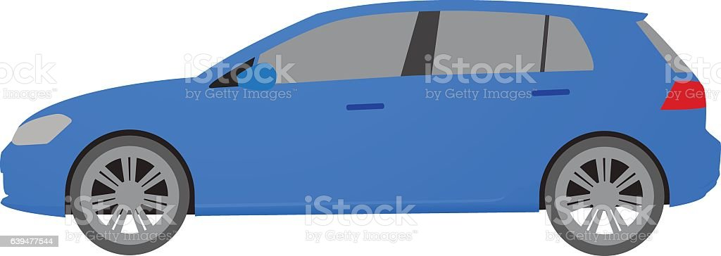 Car in flat style. Vehicle icon. Vector illustration. vector art illustration