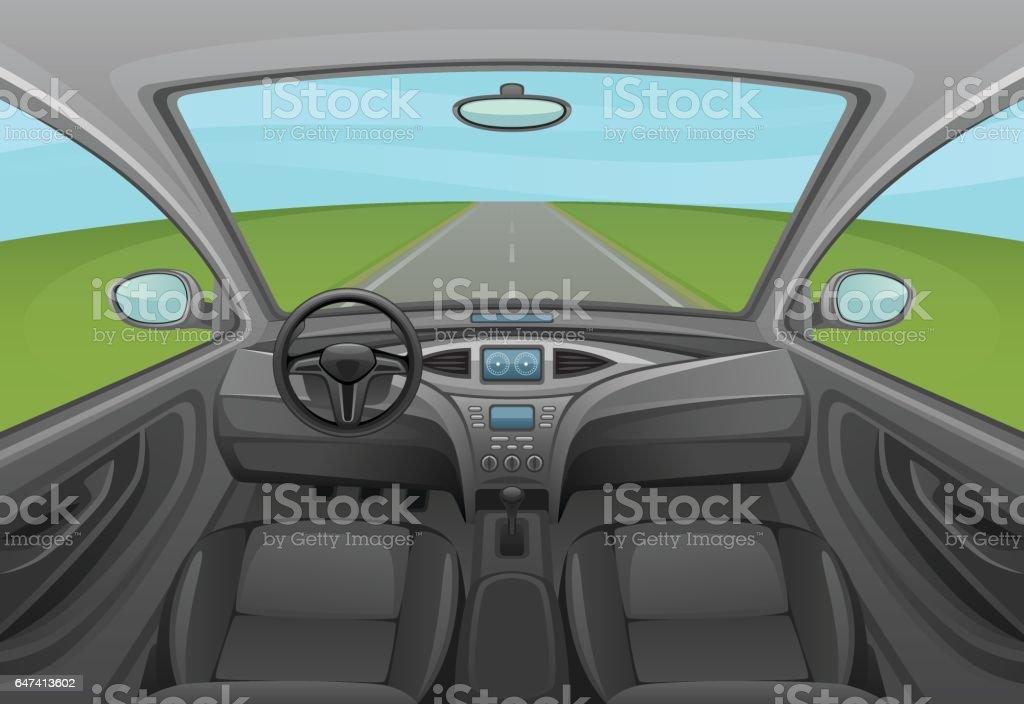 Auto innen  – Vektorgrafik