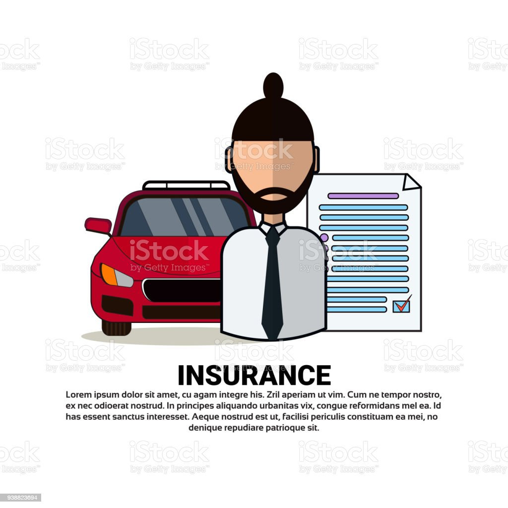 Car Insurance Agency Concept With Agent Automobile And Protection ...