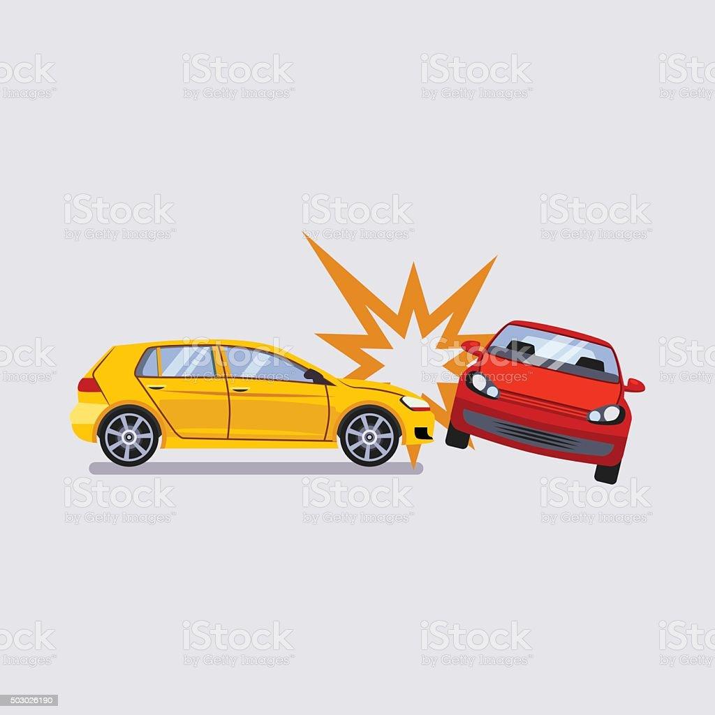 Car Insurance and Accident Risk Vector Illustration vector art illustration